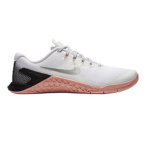 Nike Women's Metcon 4 Training Shoes - White/Silver/Pink