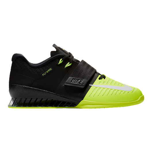 dbd6dcc765bd83 Nike Romaleos 3 Weightlifting Shoes - Black White Volt Green