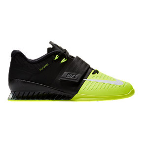 Nike Romaleos 3 Weightlifting Shoes - Black/White/Volt Green