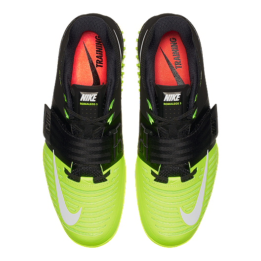 45eb70f0c14b Nike Romaleos 3 Weightlifting Shoes - Black White Volt Green. (2). View  Description