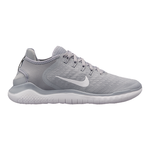 Nike Women S Free Rn 2018 Running Shoes Grey White Volt Wolf