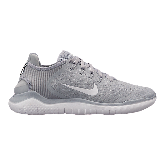 5f35350231 Nike Women's Free RN 2018 Running Shoes - Grey/White/Volt | Sport Chek