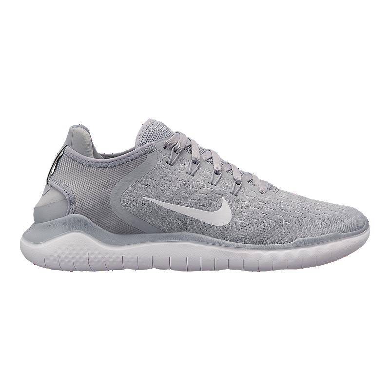 72fc409c639e ... cheapest nike womens free rn 2018 running shoes grey white volt sport  chek 7904f 79f59