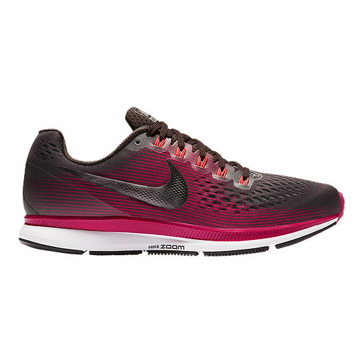 3a1c80e32cbcd Nike Women s Zoom Pegasus 34 Gem Running Shoes - Brown Pewter Maroon ...