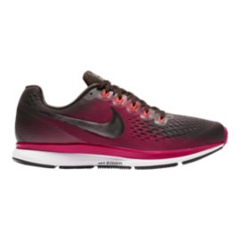 Nike Women's Zoom Pegasus 34 Gem Running Shoes - Brown/Pewter/Maroon
