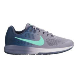 0df0ada5e8496 Nike Women s Air Zoom Structure 21 Running Shoes - Purple Green Blue ...