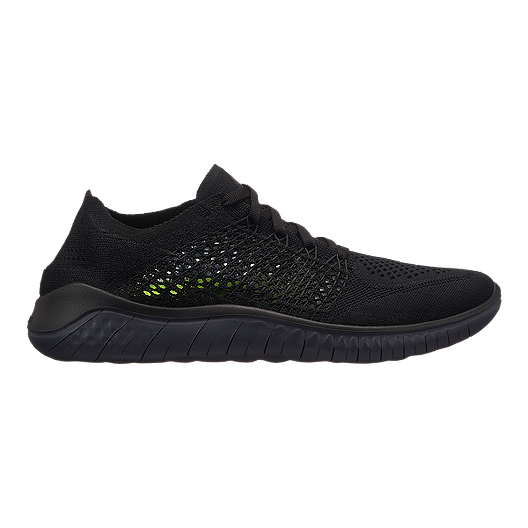 98ba6c2571d1 Nike Women s Free RN Flyknit 2018 Running Shoes - Black