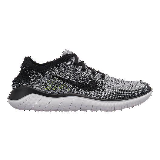 brand new 557ed dd97f Nike Women s Free RN Flyknit 2018 Running Shoes - White Black   Sport Chek