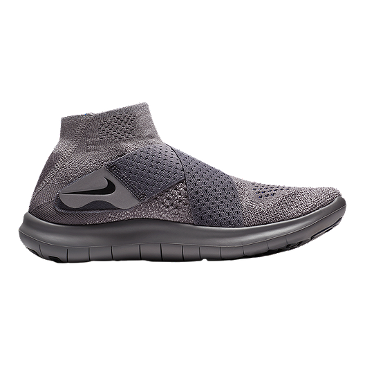 reputable site 05e41 7ab15 Nike Women's Free RN Motion Flyknit 2017 Running Shoes - Grey/Navy