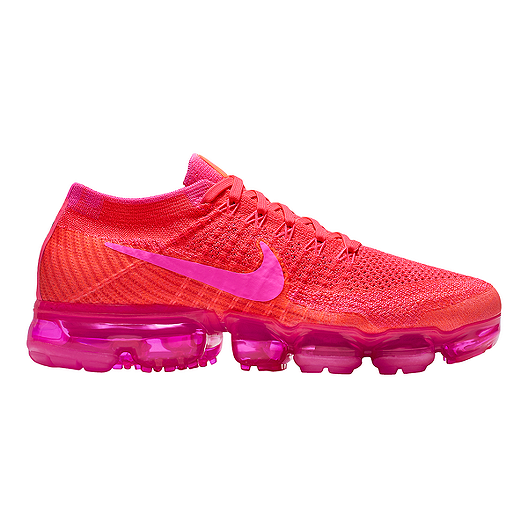 defd411ebd7 Nike Women s Air VaporMax Flyknit Running Shoes - Pink Purple Black ...