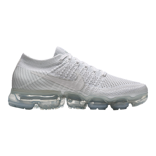 newest collection e32be 0e9d5 Nike Women s Air VaporMax Flyknit Running Shoes - White Grey   Sport Chek