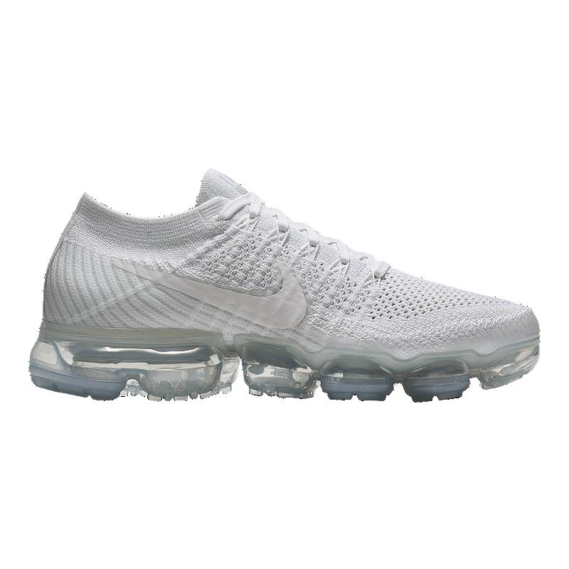 nike womens air vapormax flyknit running shoes white grey sport chek