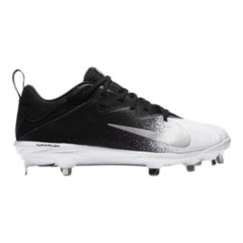 Nike Men's Lunar Vapor UltraFly Pro Mid Baseball Cleats - Black/White