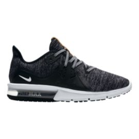 Nike Women's Air Max Sequent 3 Running Shoes - Black/White/Grey