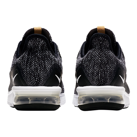 new styles 78afc 2c7bb Nike Women's Air Max Sequent 3 Running Shoes - Black/White/Grey