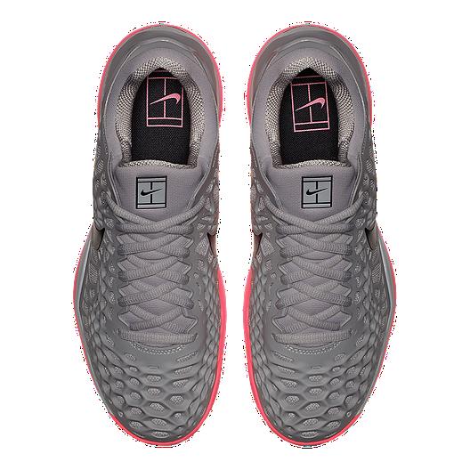reputable site 4267d b1f8e Nike Men s Air Zoom Cage 3 Tennis Shoes - Grey Black Pink. (1). View  Description