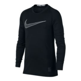 Nike Pro Boys' Fitted Long Sleeve Shirt