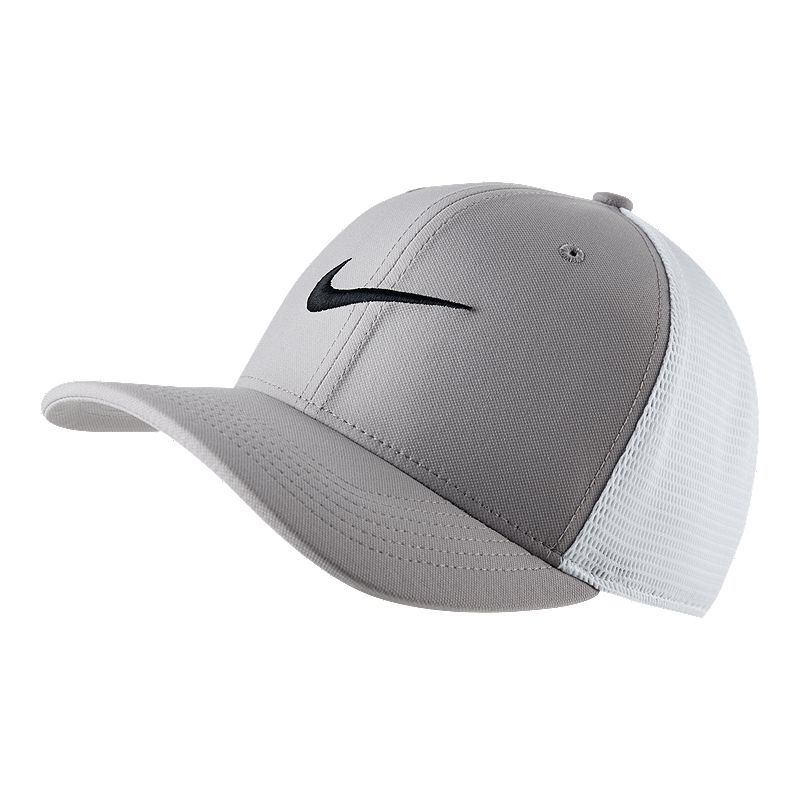 53af007763e22 Nike AeroBill Classic99 Training Hat - Gray   White (884499846741) photo