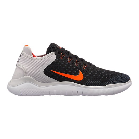 release date: 38342 18e6e Nike Men s Free RN 2018 Running Shoes - Black Red Grey   Sport Chek