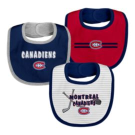 Montreal Canadiens Infant Fair Catch Bib Set - 3-Piece