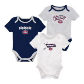 Montreal Canadiens Infant 3rd Down Creeper Set - 3-Piece