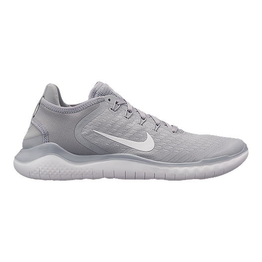 c45d299a99da4 Nike Men s Free RN 2018 Running Shoes - Grey White