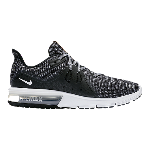 low priced 0913b bbd16 Nike Men s Air Max Sequent 3 Running Shoes - Black White Grey - BLACK