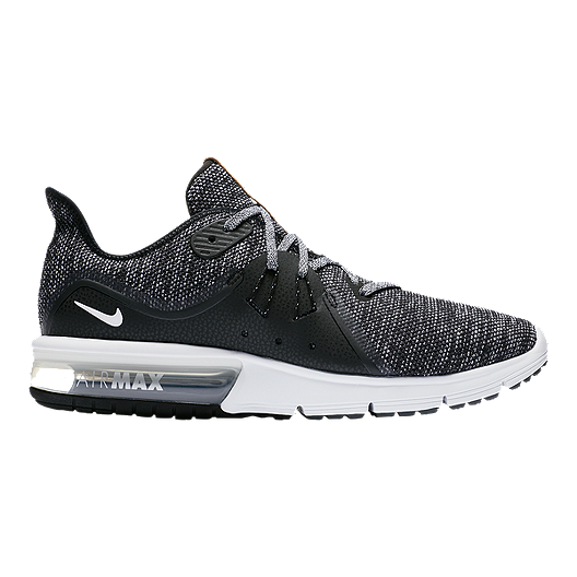 huge selection of f9db8 d2cf2 Nike Men s Air Max Sequent 3 Running Shoes - Black White Grey   Sport Chek