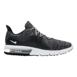 Nike Men's Air Max Sequent 3 Running Shoes - Black/White/Grey