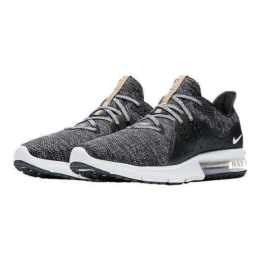 6ba3b75b310 Nike Men s Air Max Sequent 3 Running Shoes - Black White Grey. (1). View  Description