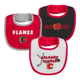 Calgary Flames Infant Fair Catch Bib Set - 3-Piece
