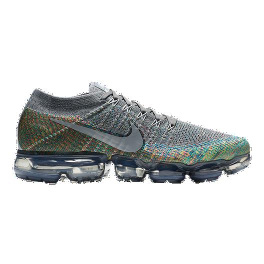 f1fd1dee5d Nike Men's VaporMax Flyknit Running Shoes - Grey/Silver/Blue | Sport Chek