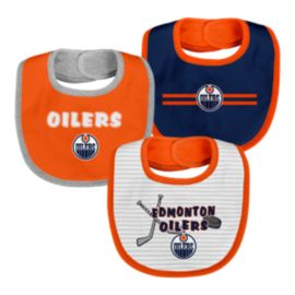 Edmonton Oilers Infant Fair Catch Bib Set - 3-Piece