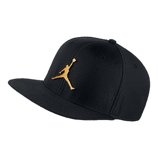 119e5f43c4a Nike Jordan Jumpman Elephant Print Ingot Pro Hat - Black / Gold -  BLACK/BLACK