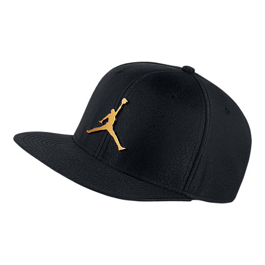 a6e50d76eee Nike Jordan Jumpman Elephant Print Ingot Pro Hat - Black / Gold - BLACK/ BLACK