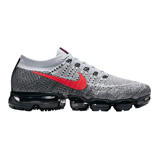 bea21f98fa4 Nike Men s VaporMax Flyknit Running Shoes - Platinum Red Black ...