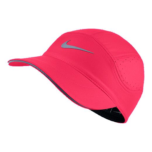 ec1ba7d1 Nike Women's AeroBill Running Hat - Pink - RACER PINK/BLACK