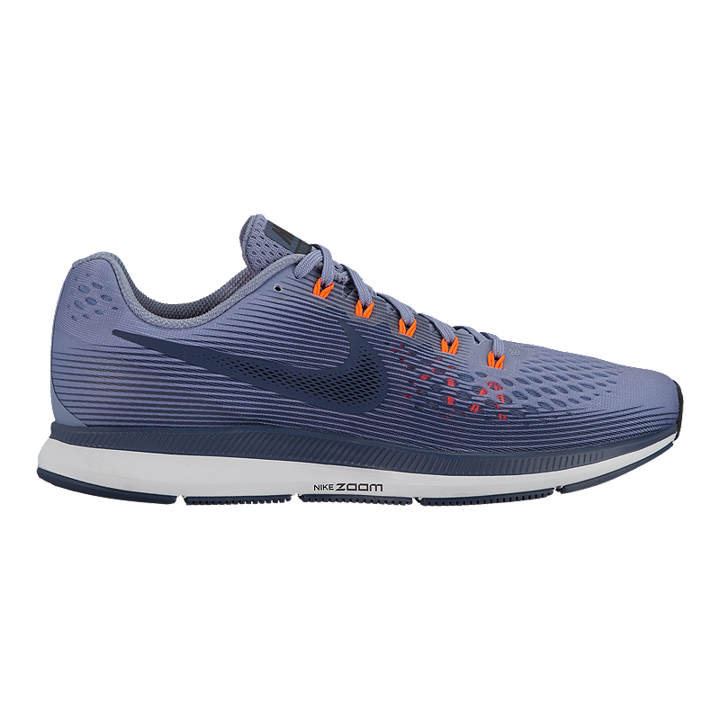 a0e460b2e7 Nike Men s Zoom Pegasus 34 Running Shoes - Dark Blue Orange