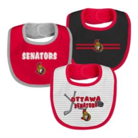 Ottawa Senators Infant Fair Catch Bib Set - 3-Piece