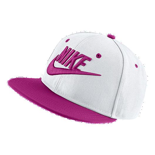 094dc8c7a94 Nike Kids  Futura True Adjustable Hat - White   Hyper Magenta ...
