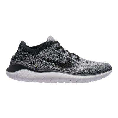 nike men s free rn flyknit 2018 running shoes white black sport chek rh sportchek ca