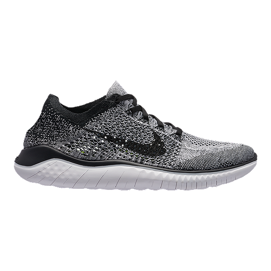 ec8bd505b498 Nike Men s Free RN Flyknit 2018 Running Shoes - White Black