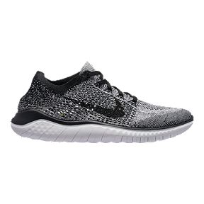 Nike Men s Free RN Flyknit 2018 Running Shoes - White Black 8d5a7c84e