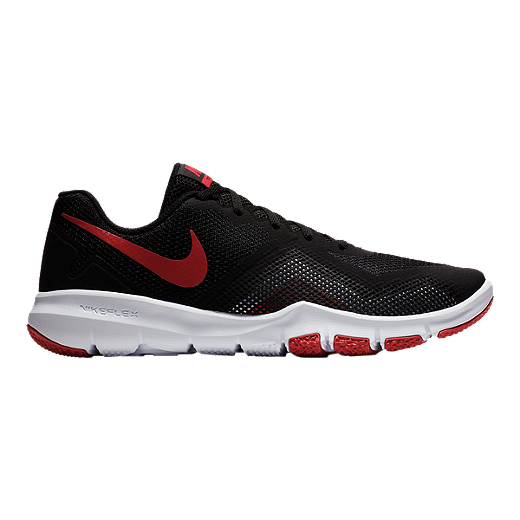 Nike Performance FLEX CONTROL II - Sports shoes - black/gym red/white lE0FtWTfMM
