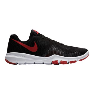 Nike Performance FLEX CONTROL II - Sports shoes - black/gym red/white