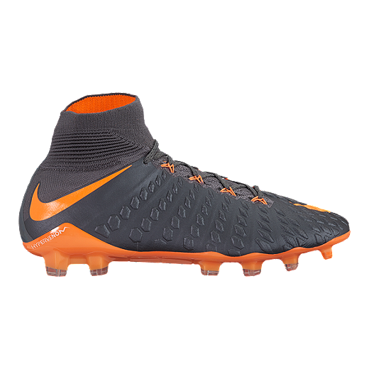 5650a28ab Nike Men s Hypervenom Phantom 3 Elite Dynamic Fit FG Outdoor Soccer Cleats  - Dark Grey