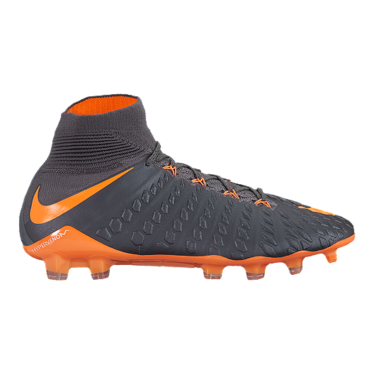 a8d9b25852de Nike Men s Hypervenom Phantom 3 Elite Dynamic Fit FG Outdoor Soccer Cleats  - Dark Grey Orange