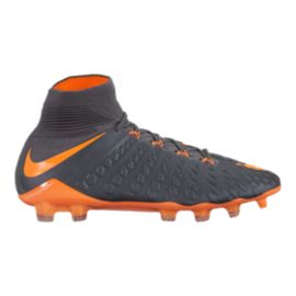 Nike Men's Hypervenom Phantom 3 Elite Dynamic Fit FG Outdoor Soccer Cleats - Dark Grey/Orange