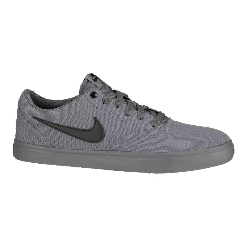 cd52bb99c72bd Nike Men's SB Check Solar Canvas Skate Shoes - Dark Grey/Black | Sport Chek