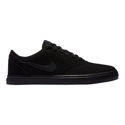 7f5ce94e1ff8 Nike SB Women s Check Solar Canvas Skate Shoes - Black Anthracite ...